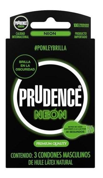 Condones Prudence Neon Brillo En Oscuridad 3und 3pack - S005