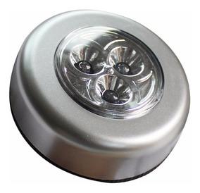 Lampada De 3 Leds Click Sem Fio A Pilhas Casa Carro Armário