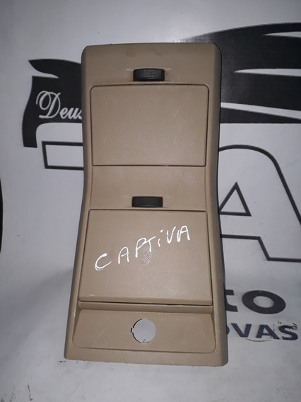 Moldura Porta Objetos Copos Console Traseiro Gm Captiva