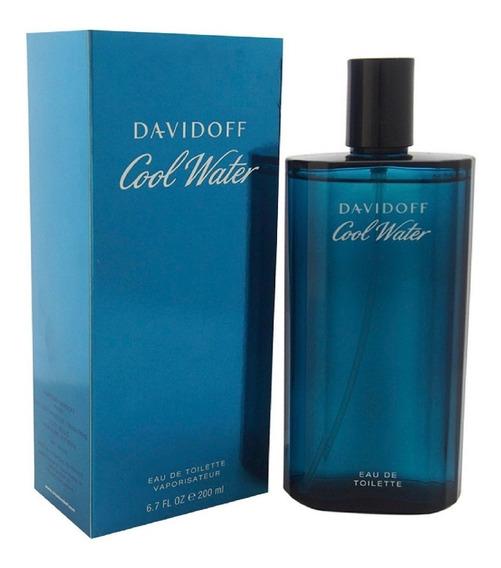 Perfume Original Davidoff Cool Water Para Hombre 200ml
