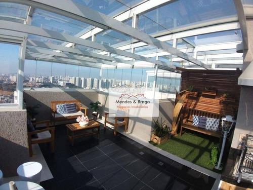 Imagem 1 de 30 de Cobertura Com 3 Dormitórios À Venda, 112 M² Por R$ 647.000,00 - Jardim Las Vegas - Guarulhos/sp - Co0031
