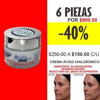 6 Crema Aclarante Elimina Paño Acido Hialuronico Negocio