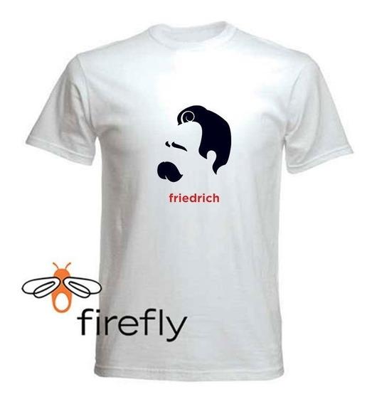 Remera Filosofia Nietzsche Hombre Blanca Coleccion 2 Firefly