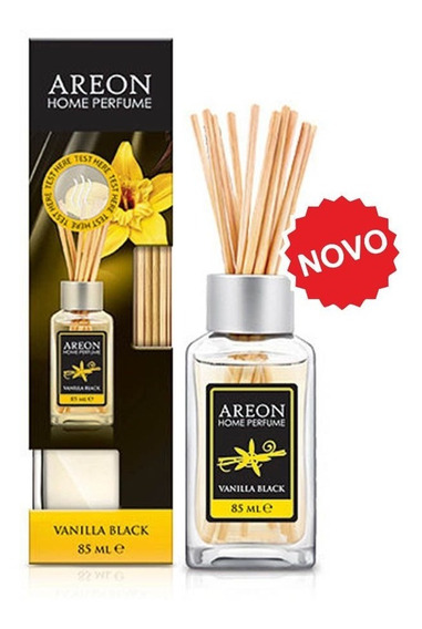 Aromatizante Importado Areon Home Sticks Vanilla Black 85 Ml