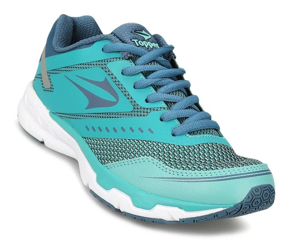 Topper Zapatilla Running Mujer Lady Stride Ii Verde Azul