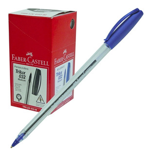 Boligrafo Faber-castell Trilux 035 Caja X 50 U. Az-ng-rj-vde