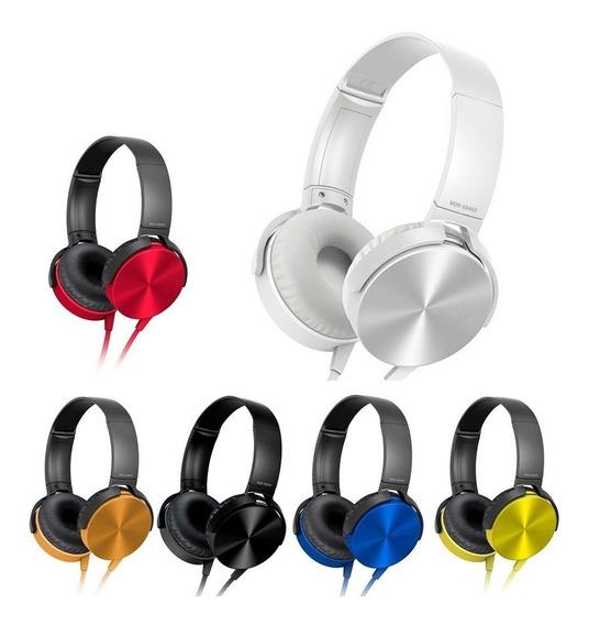 Fone De Ouvido Headphone Extra Bass Stereo Potente Microfone
