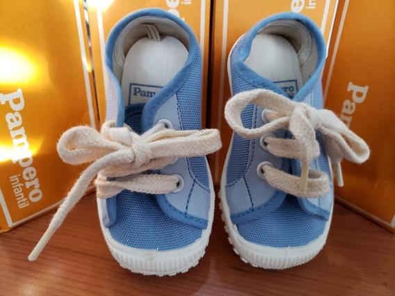 Zapatillas Pampero Unisex Para Niñes Celestes