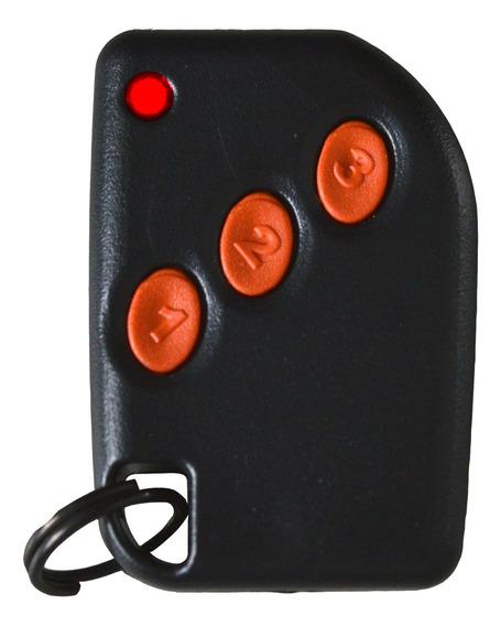 Controle Alarme 433mhz 3 Botões Chaveiro Com Pilha Compatec