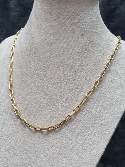 Cordão Dourado Masculino 70cm Cartier Aço Cirúrgico Garantia