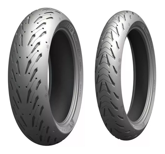 Par Pneu Fazer 600 Xj6 120/70-17 180/55-17 Michelin Road 5