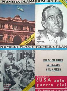Colección 4 Revistas Primera Plana - Jorge L Borges 1963/64