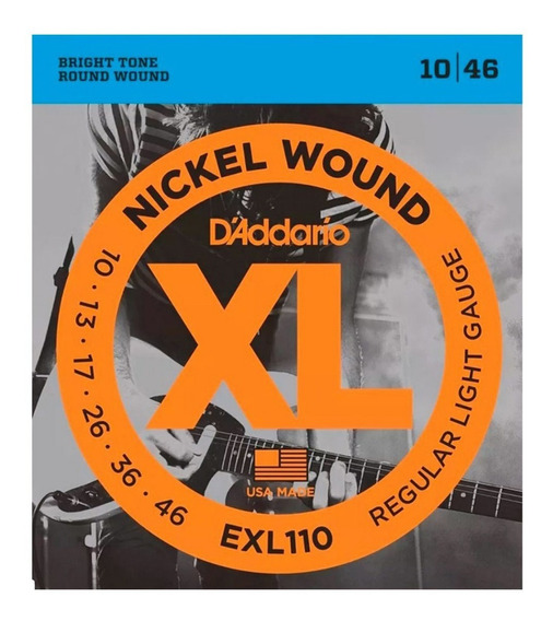 Encordado Daddario Exl110 Xl 010 046 Para Guitarra Electrica