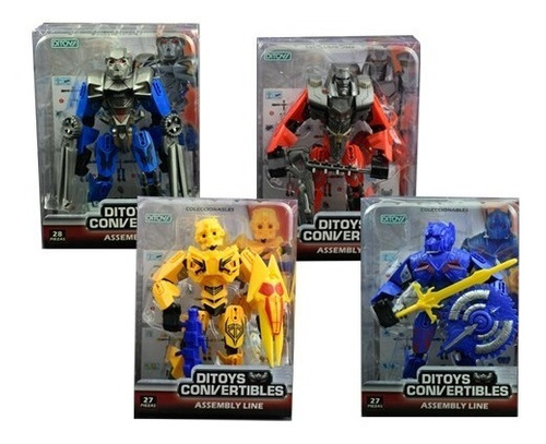 Juguete Robot Convertible Transformer Assembly Line Ditoys !