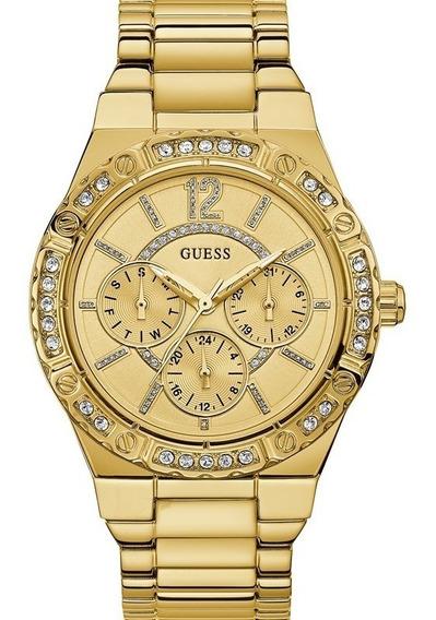 Relógio Guess Feminino Dourado Original Strass 92662lpgsda1
