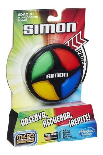 Simon Microseries B0640 Hasbro Observa Recuerda Repite Full
