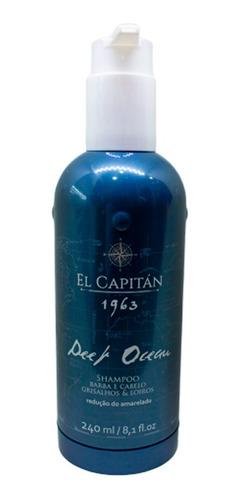 Shampoo Masc Desamar  Deep Ocean 240ml El Capitán