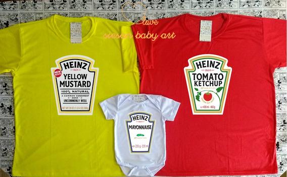 Camisas Personalizadas Familia - Kit Trio Perfeito