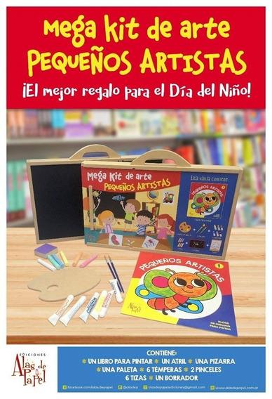 Mega Kit Pequeños Artistas Atril Pizarra Paleta Temper Libro