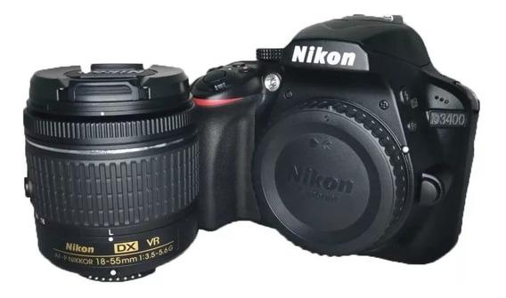 Câmera Nikon D3400 + Lente 18-55 Semi Nova + Bag