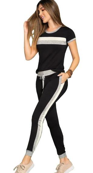 Deportivo Conjunto Sudadera Jogger Blusa Camiseta Mujer