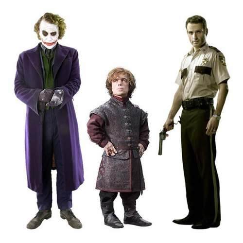 Imagen 1 de 1 de Gigantofrafías De El Joker, Rick Grimes Y Tyrion Lannister