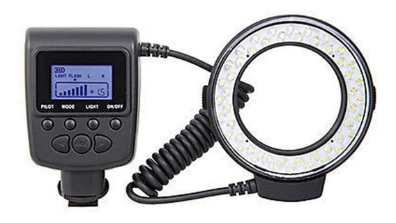 Flash Circular Macro Led Ring Hd-130 Iluminador Canon Nikon