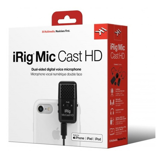 Irig Mic Cast Hd Microfone Voz Digital Dual - Ik Multimedia