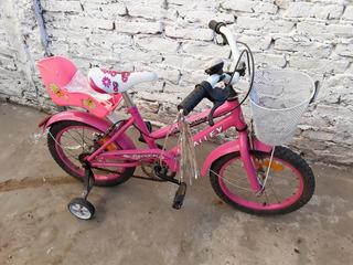 Bicicleta De Nena Halley Rodado 16