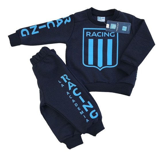 Buzo Y Pantalón Conjunto Racing Club Oficial De Bebé