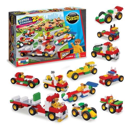 Autos Y Camiones 20 Modelos Bloques Original Rasti