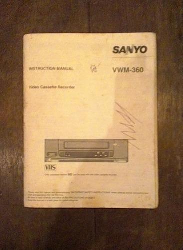 Imagen 1 de 6 de Manual De Isntruccion De Uso Sanyo Vwm - 360