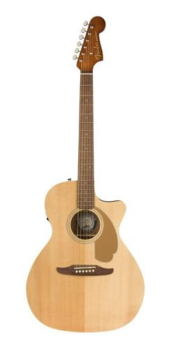 Guitarra electroacústica Fender California Newporter Player abeto  natural derecha