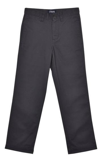 Pantalón Classic Fit Chaps Gris 332527529-27sc Niño