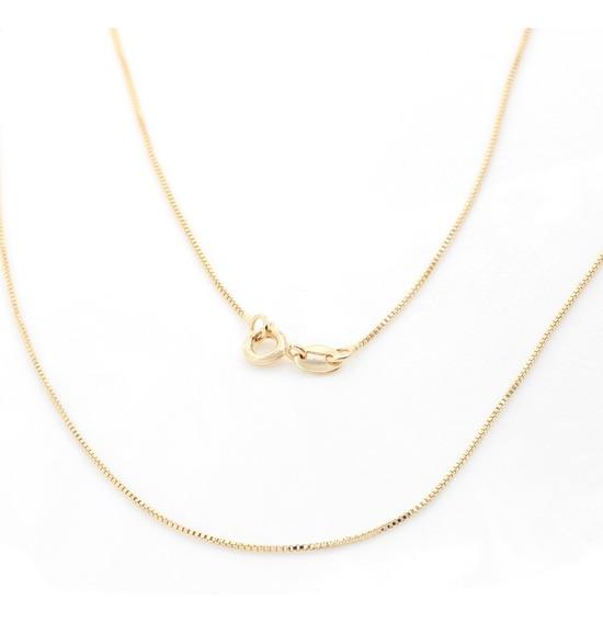 Corrente Veneziana Diamantada 50cm Folheada A Ouro 3048