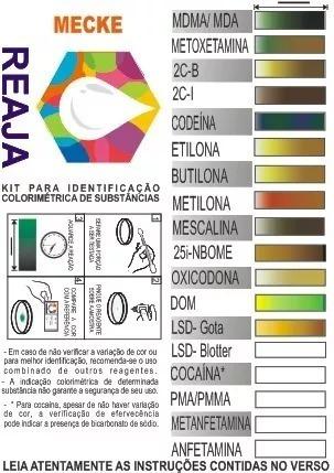 Kit De Identificação Colorimétrica Mecke 10ml