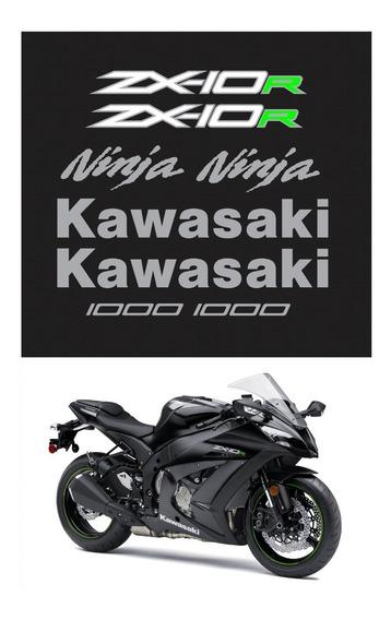 Kit Adesivos Moto Kawasaki Ninja Zx-10r 2015 Preta Ccr15998