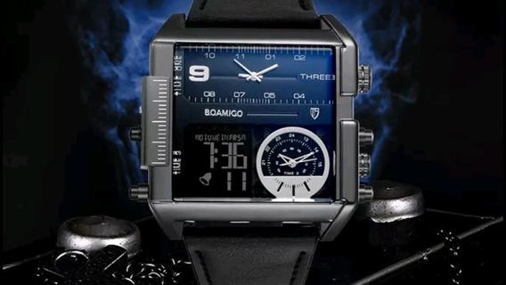Relógio Masculino, Homens De Luxo 3 Tempos 100% Funcional