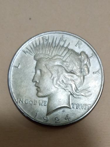 1924 Dollar Peace De Plata