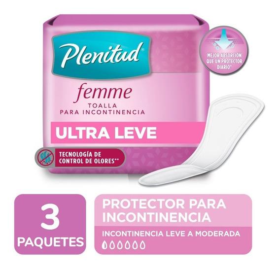 Plenitud Protector Ultra Leve Femme X 20 Unidades Pack X 3