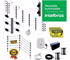 Kit Cerca Elétrica Intelbras Big Hast 50m Inox .45 12x S/jur