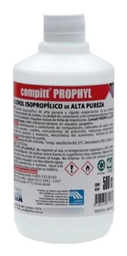 Imagen 1 de 2 de Alcohol Isopropilico Botella Maxima Pureza 500cc Deltaphx500