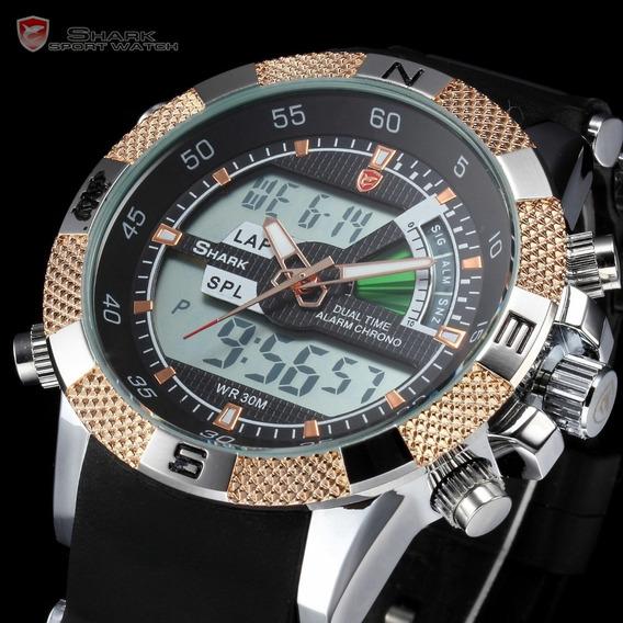 Relógio Shark Gold Modelo Sh041