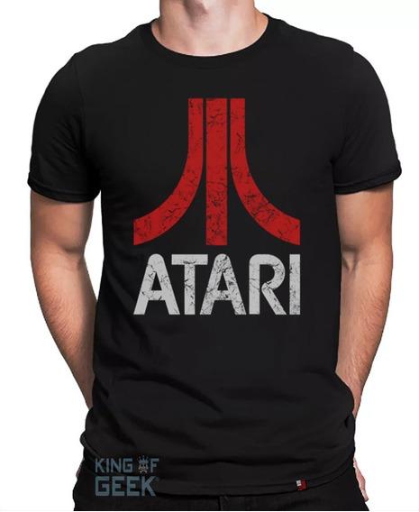 Camiseta Atari Games Camisa Geek Retrô Clássicos Anos 80