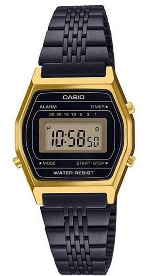 Relógio Vintage Casio La690wgb-1df Dourado/preto