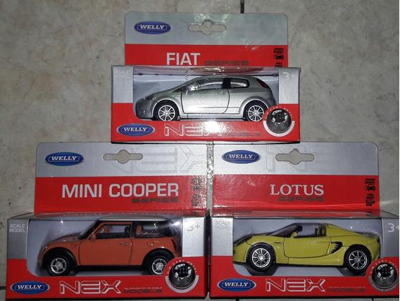 Welly 1:36 Autos X 3 Modelos Articulo Nuevo.