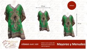 Blusa Salida De Playa Kaftan Indu Colores Varios (corto)