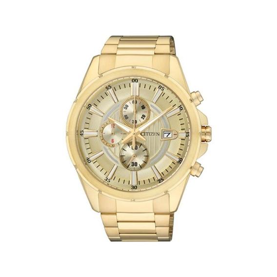 Relógio Citizen Masculino Tz20420g Aço Dourado Original