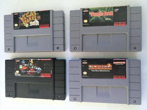 Lote De Jogos Super Nintendo Originais - 4 Cartuchos