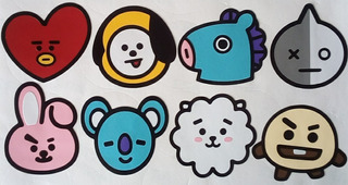 Calcomanias (stickers) Niñas, Chicas, Damas. K-pop Bt21 Btm